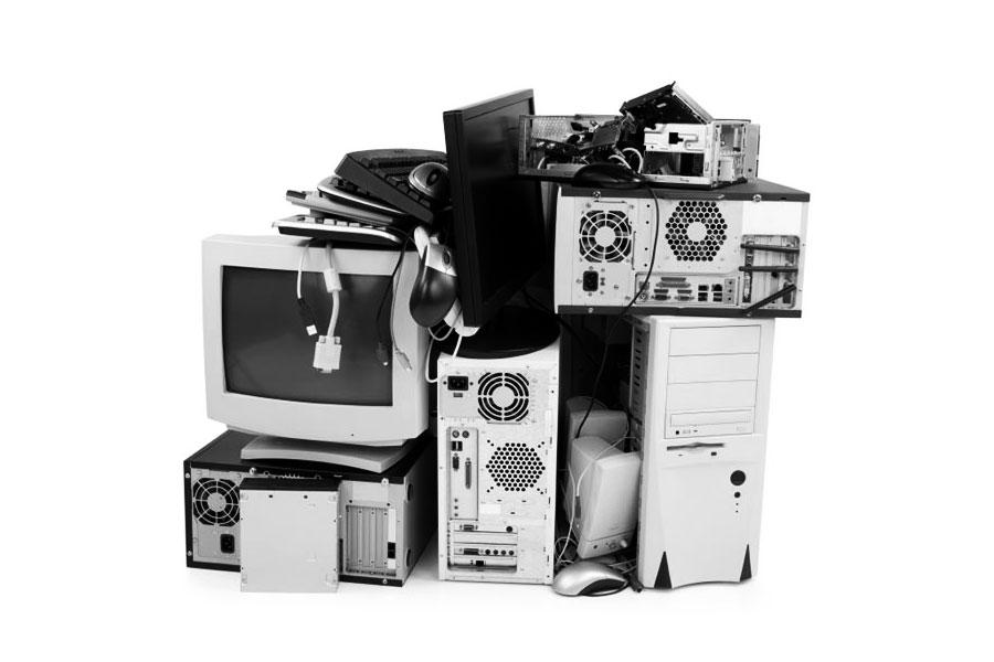 appareils électronique usagés à recycler